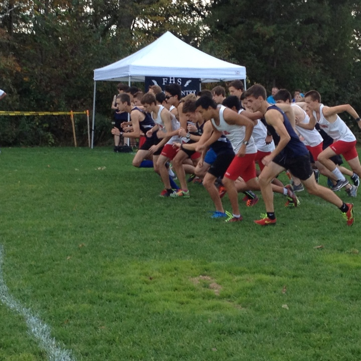 The boys take off at a recent meet. (Photo by Colin McKenzie)