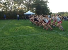 Annie Roberts (front) and the girls take off (Photo by Colin McKenzie)