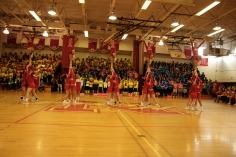 Cheerleaders during the rally (Photo by Nick Dirschel)