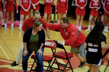 The Final Three: Mrs. Rushlow, Mr. Herber, Mr. Hart (Photo by Nick Dirschel)