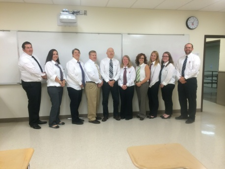 First Place – The Math Department and their duplicates of Mr. McGrath