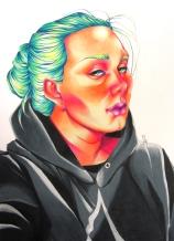 "Savanna Gamache (Senior) ""Self Portrait"" Color pencil"
