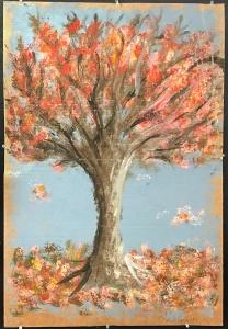 """Olivia Capobianco (Freshman) """"Tree"""" Acrylic Paint"""